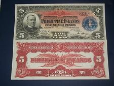 UNC 1903 COMMONWEALTH OF THE PHILIPPINES 5 PESO  SILVER CERTIFICATE COPY