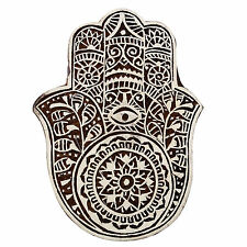 Decorative Block Stamp Indian Wooden Brown Textile Stamps Wood Printing Block
