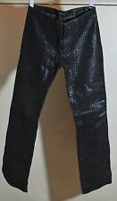 Steve Madden Leather Pants Black Reptile Snake Print Size 4