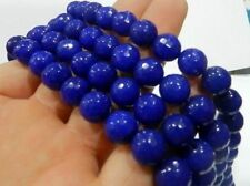 8mm Natural AAA+++ Blue Sapphire Gemstone Round Loose Beads 15''