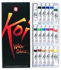 Sakura - Koi Watercolor Tube Set - 18 Transparent Colors (12ml Tubes) 15262