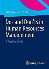 DOS and Don Ts in Human Resources Management: A Practical Guide, , New Condition