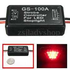 car Flash Strobe Controller Flasher Module fit LED Brake Stop Light Lamp 12v 2A
