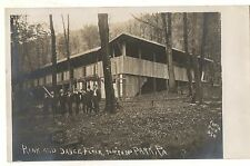 RPPC Roller Skating Rink Dance Hall NIPPONO PARK JERSEY SHORE PA Real Photo PC 1