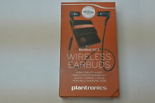 New in Box Plantronics BackBeat GO 2 Black Wireless Earbuds with Charging Case
