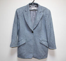 ESCADA BY ERMENEGILDO ZEGNA LADY WOMAN BLUE JACKET  SIZE M 42 CASHEMERE 100 %