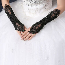 1 Pair Popular Sexy Lace Wrist Fingerless Wedding Evening Party Bridal Gloves