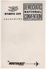 1964 DEMOCRATIC NATIONAL CONVENTION Stationery LBJ Atlantic City NORTHEAST AIR
