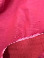 "Curtain Fabric Laura Ashley Pink Red Quality Satin Repp Weave 18 Metre Roll 54""w"