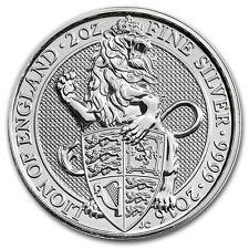 2016 Great Britain 2 oz 999.9 Silver Queen's Beasts The Lion