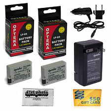 2 Pc LP-E8 Lithium Battery + AC Wall Charger for Canon EOS 550D 600D 650D 700D