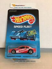 #5 Thunderbird Stocker 4916 * Red * 1988 Malaysia * Vintage Hot Wheels * E31