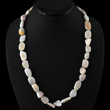 FACETED 230.00 CTS NATURAL UNTREATED RICH PINK AUSTRALIAN OPAL BEADS NECKLACE