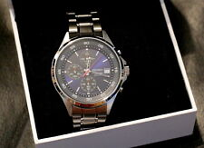 Mens Seiko Chronograph watch wristwatch BNIB & Warranty 100m