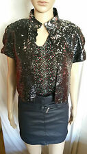 ZARA PARTY STYLE SPARKLY SEQUINED WAISTCOAT...SIZE S SMALL...**SOLD OUT ONLINE**