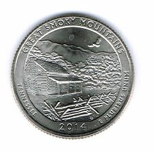 2014-P Uncirculated  Great Smoky Mountains America The Beautiful Quarter Coin!
