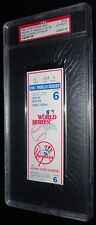 1981 WORLD SERIES GAME 6 TICKET LOS ANGELES DODGERS 5TH WS TITLE CHAMPIONS PSA