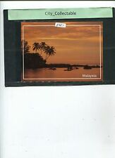 P351 # MALAYSIA USED PICTURE POST CARD * PANTAI KOK AT SUNSET