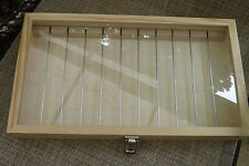 Holds 200 large hole & other beads Craft show Wood glass Display storage box