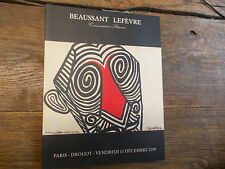 Catalogue vente Drouot collection Jean et Gilberte Lescure Beaussant Lefèvre