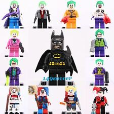 13pcs SET Batman VS Joker harley quinn Custom Lego MiniFigure Superhero