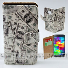 Wallet Phone Case Flip Cover for Samsung Galaxy S5 - US Dollar 100 Notes Bill