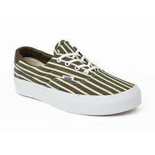 VANS Era (Stripes) Yellow/True White Skate Shoes NEW WOMEN'S SIZE 9