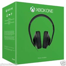 Official XBOX One Stereo Gaming Headset + Adapter Microsoft XBOX ONE - Black UK
