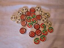 Melissa & Doug Replacement Pizza Toppings Parts Mushrooms Peppers Pepperoni Part