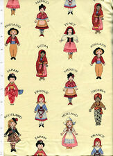 aunt grace friends around the world ~ ETHNIC FOLK COSTUME ~ fabric child doll
