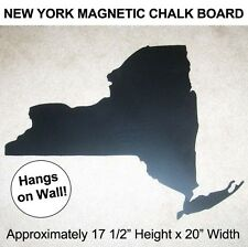 NEW YORK STATE Die-Cut Shaped MAGNETIC CHALK MESSAGE BOARD Metal Wall Display NY