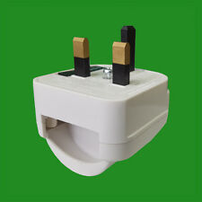 Unearthed Schuko Euro to UK 3 Pin Mains Fused Plug Converter Travel Adaptor