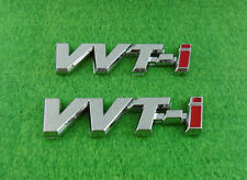 2 pcs Auto Car Chrome VVTI VVT-I Fender Emblem Badge decal Sticker