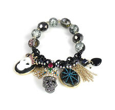 Betsey Johnson Jewelry Halloween Skull Stretch Bracelet NWT