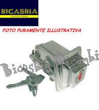 8974 - SERRATURA CROMATA SELLA SELLONE VESPA 125 ET3 PRIMAVERA SPECIAL R L N