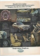 MAZDA RX-4 1975 Magazine Ad Tough Engine Tough Car Features Print Advertising