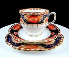ROYAL ALBERT HARD TO FIND IMARI POPPY CUP, SAUCER, BREAD & BUTTER TRIO SET