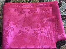 """hot pink Rose Satin brocade Jacquard Fabric, 60""""w, sold bty"""