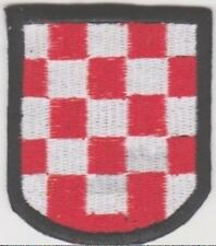 GERMAN ARMY CROATIAN VOLUNTEERS SLEEVE SHIELD PATCH insignia patch for sleeve