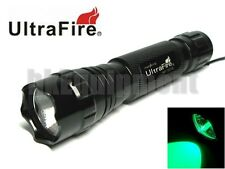 Ultrafire WF-501B Cree GREEN LED Flashlight Torch 6v 6p G2