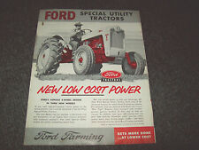 FORD 620 630 820 TRACTOR BROCHURE LITERATURE ADVERTISING LEAFLET