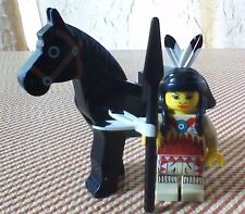 LEGO Western NATIVE AMERICAN & BLACK HORSE Indian Collectible Lot Minifigure