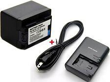 New Battery & Charger for Canon VIXIA HF M50 HF M52 HF M500 HF R32 HF R30 HF R32