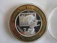 2 Items BIG SALE: 0.999 Silver CIRCUS Limited $10 Gam Token+One Old Cent US Coin
