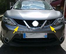 Chrome Grill Cover FOR Nissan Qashqai J11 2014 2015 2016 Trim Styling Grille ABS
