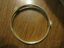 Two or 2 knot African Elephant hair style Bracelet light silver tone