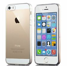 Clear Silicone Case For iPhone 5S SE 5 TPU Gel Back Cover +2pcs Screen Protector
