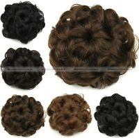 Women Wig Drawstring Curly hair Bun Clip In Hair Extension Hairpiece 4 Colors