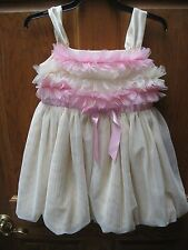American Girl Bitty Baby  Yellow Pink Sugar and Spice Dress FOR GIRLS SZ 3 NWTS