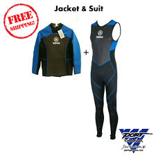 YAMAHA NEOPRENE WET SUIT XL LONG JOHN WITH JACKET WAVERUNNER JETSKI BOAT KAYAK